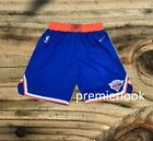 New York Knicks Blue Stitched Sewn S M L XL XXL Basketball Shorts NWT