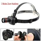 5PC 50000LM XM-L T6 LED Rechargeable 18650 Headlamp Zoomable Torch Head Light UP