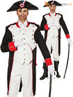 Mens Napoleon Costume Adult French Emperor Military Fancy Dress Bonaparte Outfit