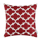 "CaliTime Cushion Cover Pillows Shell Home Car Decor Quatrefoil Geometric 18"" 20"""