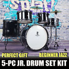 5Pcs Drum Set For Beginners Kids Junior Sticks Kit Cymbal Full Size with Stool