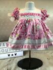 Hannahs Boutique Baby Girls Pink Floral Embroidered Lined Dress Size 0-3 - 6-9m