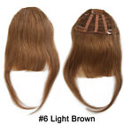 5A 100% Human Hair Bangs Fringe With 3Clips Remy Clip In Hair Extensions NY T482