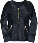 Girls Faux Leather Quilted Jacket New Kids Lightweight Black Biker Age 3-12 Yrs