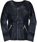 Girls Jacket Black Faux Leather Quilted Coat Lightweight Biker Age 3 4 5 6 7 8 Y