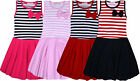 Girls New Party Waffle Stripe Dress Kids Sleeveless Summer Baby Dress Age 1-5 Y
