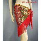 New Belly dance tassel Triangle shawl belt belly chain costume hip scarf sequins