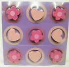 Wooden Noughts & Crosses Game Tic Tac Toe Stocking Filler Toy CE Stamped