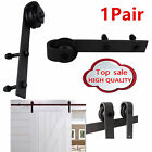 Black 1PC/2PCS Door Hardware Steel Sliding Barn Door Roller Replacement Rustic