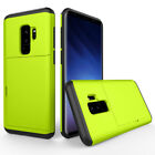 Slide Card Slot Wallet Phone Case Cover For Samsung Galaxy S7 S8 S9 Plus Note 8