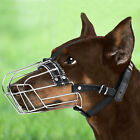 Doberman Dog Muzzle Metal Basket with Adjustable Leather Straps