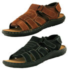 Mens Adjustable Leather Walking Mules Sandals Hiking Beach Shoes Size