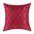 Cushion Covers Pillow Cover Shells Home Decor Waves Geometric Embroidered 18X18