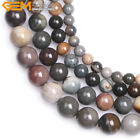 Natural Round Polychrome Jasper Gemstone DIY Loose Beads For Jewelry Making 15""