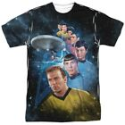 Authentic Classic Star Trek NCC-1701 Cast AMong the Stars Allover Front T-shirt on eBay