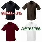3 5 10 Pack Mens Boys Short sleeve easycare fitted shirt formal casual wholesale