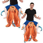 Adults Piggy Back Ride On Octopus Squid Sea Life Animal Fancy Dress Costume