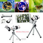 US 18X Zoom Optical Phone Camera Telescope Lens Clip+Tripod For Most Cellphones