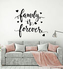 Vinyl Wall Decal Quote Words For Home Family Forever Stickers 2495ig