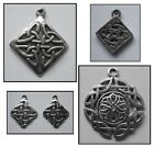 PEWTER CHARM 1 bail CELTIC KNOT #384 or #1373 or #1407 or #2342 Square on angle