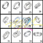 White 0.24 Ct Moissanite Solitaire Men's Engagement Band 925 Sterling Silver