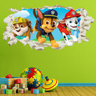 Paw Patrol Chase Marshall Wall Crack Kids Boy Girls Bedroom Decal Sticker Gift