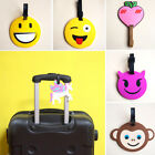 1PC Creative Cute Luggage Tags Emoji Silicone Luggage Label Suitcase New