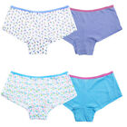 Girls Boxer Briefs Shorts 2 Pack 100% Cotton Knickers Sizes 5-12yrs FREE P&P