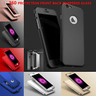 Fashion New Shockproof Case Tempered Glass Cover For Apple iPhone 8 7 6 5 X Plus