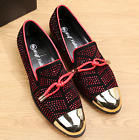 Mens Rhinestones Shoes Wingtip party new Moccasin Business Dress chic Loafers 18
