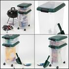 Food Storage Combo Container Holder Feed Dog Cat Bin Rolling Scoop Seal Fresh