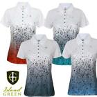 Island Green Womens Sublimated Golf Polo Shirt Top Size UK 10-18