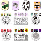 Born Nail Art Stamping Plates Feather Unicorn Flamingo Image Manicure DIY Hot