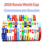 2x Cup Country Flag Unisex Silicone Bracelet Sport Wristband Safe Rubber