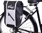 15L / 30L XLC Low Rider Waterproof Bike Pannier Roll Top Luggage Bag Black/White