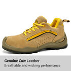 safety toe boots - Safetoe Safety Shoes Mens Work Boots Steel Toe Yellow Leather Breathable US Size