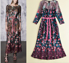 Runway Occident round neck Modern Vintage Printed Women making Cocktail dress sz