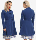 new Her Universe Doctor Who TARDIS trench coat jacket top costume M, MSRP $89.90