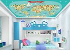 3D Cartoon World Map 6 Ceiling Wall Paper Print Wall Indoor Wall Murals CA Jenny