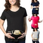 US Womens Pregnants Casual Nursing Blouse Baby For Maternity Loose T Shirt Tops
