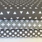 Geometric grey & white fabrics 100% cotton  by  Robert Kaufman