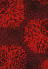"Red Floral Synthetics Rose Leaves Petals Runner 550-37335 - 1' 11"" x 7' 2"""