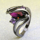 New Design Women Vintage Irregular Ring Wedding Oval Crystal Plated Band Jewelry