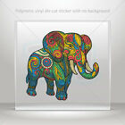 Decals Sticker colorful elephant head feng shui good luck car st7 26827