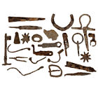LOT OF 630 GRAMS ROMAN IRON ARTIFACTS , SPEAR HEADS , AROWHEADS , KEYS etc