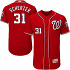 Max Scherzer 31 Washington Nationals Red Mens Cool Flexbase Game Jersey