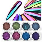 Nail Art Mirror Mermaid Chrome Effect Pigment Glitter Dust Powder Decor DIY 3g