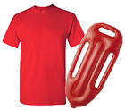 RED LIFEGUARD SET WOMENS MENS TOP AND FLOAT FANCY DRESS COSTUME 1980S 90S RETRO