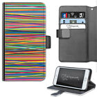 MULTICOLOUR STRIPE PHONE CASE, LEATHER WALLET CASE, COVER FOR SAMSUNG, APPLE ETC