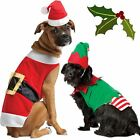 CUTE CHRISTMAS XMAS FESTIVE PET DOG CAT FANCY DRESS COSTUME OUTFIT CLOTHES GIFT